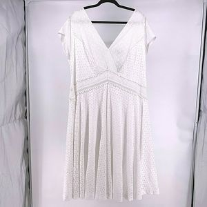 Lane Bryant White Lace Fit & Flare Dress Size 22